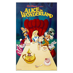 Alice in Wonderland. Размер: 60 х 100 см